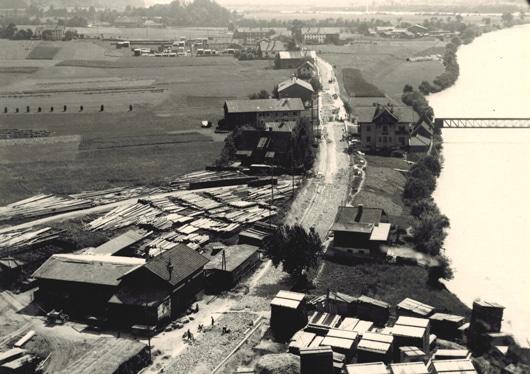 pirmoser_historie_1921_firmengebaeude_blick_auf_weissach